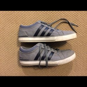 Men's Adidas Neo Label Gray Athletic Shoes 9.5